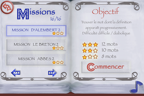 missions dictionnaire